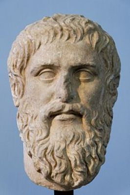 Bust of Plato in the Centrale Montemartini, Vatican City. Roman copy of a Greek original by Silanion from 428 BCE.