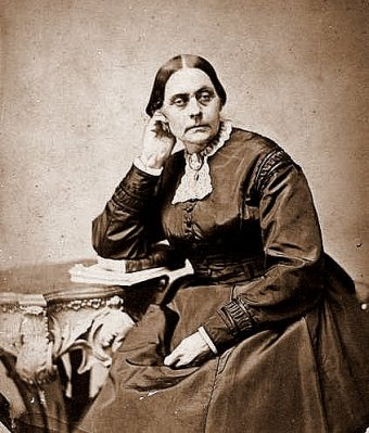 A photograph of Susan B. Anthony on her 50th birthday in 1870.