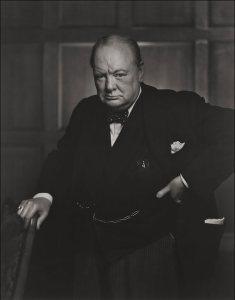 Portrait of Winston Churchill.