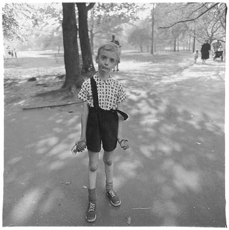 Diane Arbus boy with hand grenade