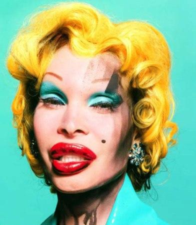 LaChapelle Amanda-as-Andy-Warhols-Marilyn larger