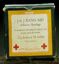 Box of Band-Aids from 1921.