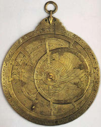 This astrolabe was made in Arabia in 927 CE.
