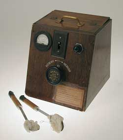 The defibrillator invented by Dr. Claude Beck in the 1940s.