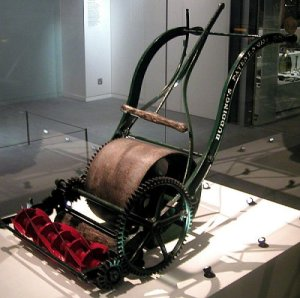 One of John Budding's original mowers, from the early 1800s.