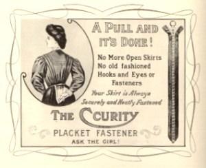 Early zipper advertisement.
