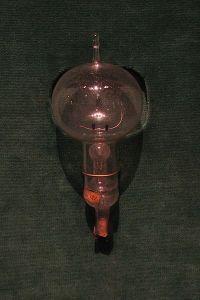 One of Thomas Edison's original carbon filament light bulbs.
