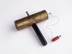 Hans Geiger constructed this Geiger Counter for laboratory use in 1932.