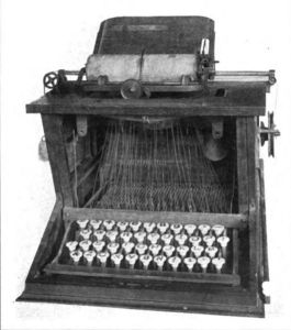 A Sholes typewriter from 1873.