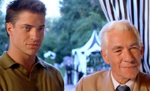 Ian McKellen (as director James Whale) and Brendan Fraser in Gods and Monsters (1998).