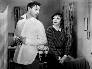 Clark Gable and Claudette Colbert in It Happened One Night (1934).
