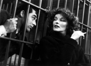 Katherine Hepburn and Cary Grant in Bringing Up Baby (1938).