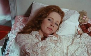 Liv Ullmann in Cries and Whispers (1973), one of __ films she made with director Ingmar Bergman.