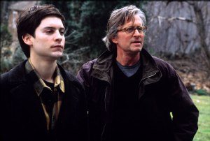 Michael Douglas (right) and Tobey Maguire in Wonder Boys (2000).