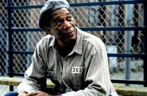 Morgan Freeman in The Shawshank Redemption (1994).