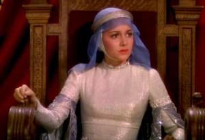 Olivia de Havilland as Maid Marian in The Adventures of Robin Hood (1938).