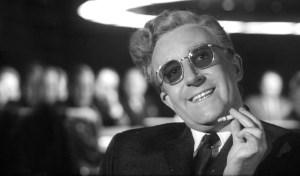Peter Sellers in Dr. Strangelove (1964).