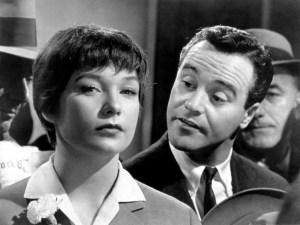 Shirley MacLaine and Jack Lemmon in The Apartment (1960).