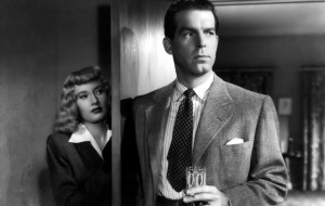 Barbara Stanwyck and Fred MacMurray in Double Indemnity (1944).