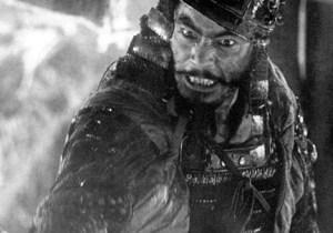 Toshiro Mifune in Seven Samurai (1954).