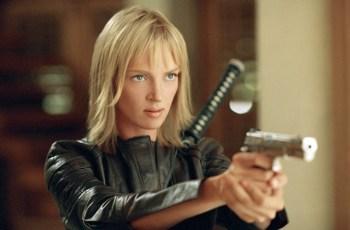 Uma Thurman in Quentin Tarantino's Kill Bill 2 (2004).