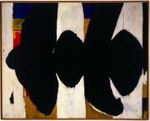 Elegy to the Spanish Republic XXXIV, 1953-1954 is now at the Albright-Knox Art Gallery, Buffalo, New York.