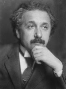 A 1921 photograph of Albert Einstein (1879-1955).