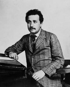 A photograph of Albert Einstein (1879-1955) in about 1905.