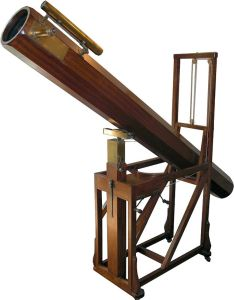 A replica of the telescope that William Herschel used to discover Uranus.