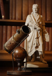 Isaac Newton's first reflecting telescope. Photograph by Peter Macdiarmid/Getty Images.