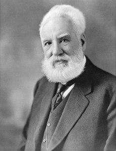A photograph of Alexander Graham Bell taken between 1914 and 1919.