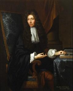 Johann Kerseboom's 1689 portrait of Robert Boyle.