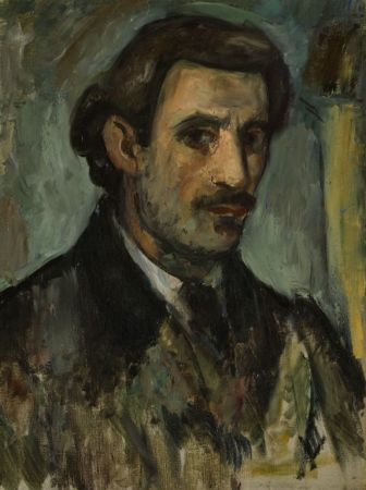 A Self-Portrait by Arshile Gorky, from 1927-1928.