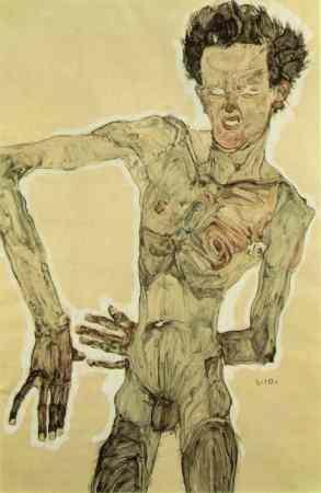 Self-Portrait Standing is a 1910 artwork by Egon Schiele.