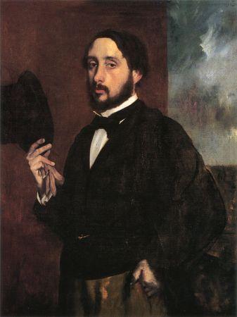 Self-Portrait by Edgar Degas (c. 1863).