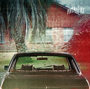 The cover of Arcade Fire's album The Suburbs.