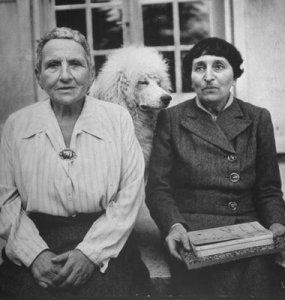 Gertrude Stein, Alice B. Toklas and friend.