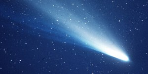 A photo of Halley's Comet taken during its 1986 return.