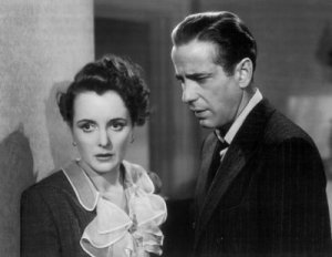 Humphrey Bogart and Mary Astor in John Huston's The Maltese Falcon.