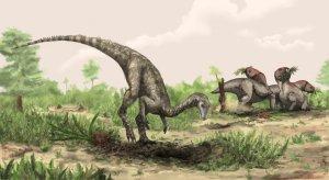 An artist's imagining of Nyasasaurus.