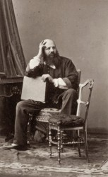 An 1860 self-portrait of André Adolphe-Eugène Disdéri.