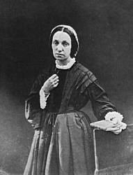An 1860 photograph of Julia Margaret Cameron by Charles Somers Somers-Cocks, 3rd Earl Somers.