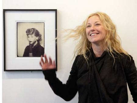 Cindy Sherman with her 1975 photograph Lucille Ball.
