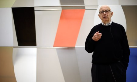 Ellsworth Kelly, at age 90, speaks about 'Sculpture for a Large Wall' (1957).