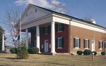 Charlotte County Courthouse in County Courthouse, Virginia, was built using a design by Thomas Jefferson.