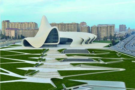 Hejdar Aliyev Center in Baku, Azerbaijan.