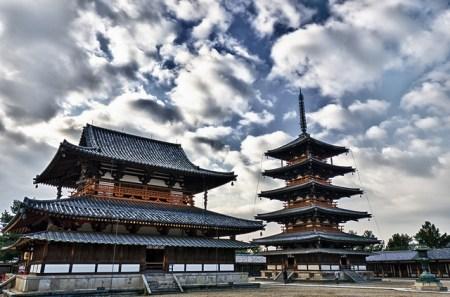 Hōryū-ji Temple in Ikaruga, Japan.