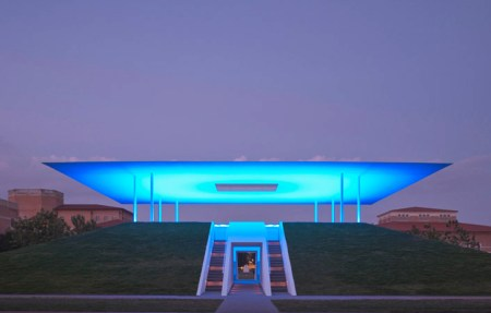 Twilight Epiphany, a skyspace by James Turrell at Rice University in Houston, Texas.