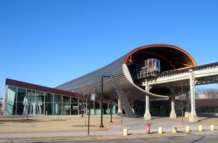 The McCormick Tribune Campus Center at the Illinois Institute of Technology in Chicago.