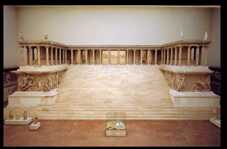 The Pergamon Altar is now located at the Pergamon Museum in Berlin, Germany.